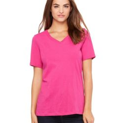 6405 Short Sleeve Jersey V-Neck T-Shirt Thumbnail
