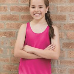 2166 B-Core Girls' Racerback Tank Top Thumbnail