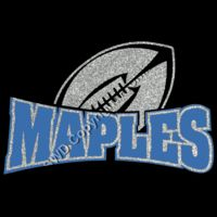 Maples Football Glitter Thumbnail